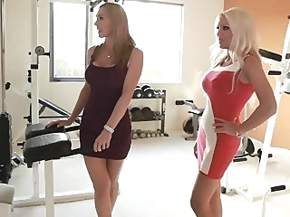 Two horny moms taking care of a son't friend blowjob threesome milf video