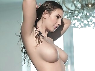 Babe with big natural tits in action big tits brunette milf video