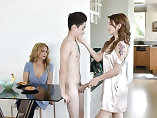 FamilyStrokes - Stepsiblings Gets Caught Fucking apart from Stepmom porn for women skinny small tits video