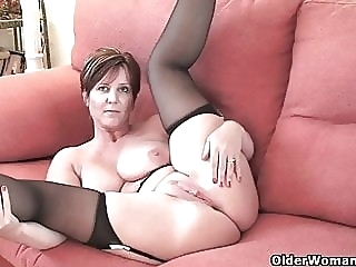 British milf Joy exposing her big tits and hot fanny amateur mature milf video