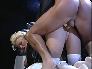 Classic DP: Stacy Valentine 7 anal double penetration blond video
