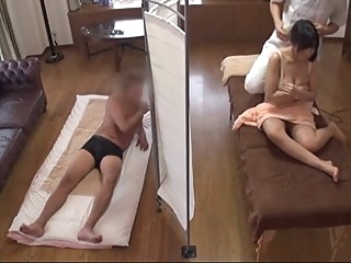 Husband Watches Japanese Wife Get a Naughty Massage - 1 asian facial milf video