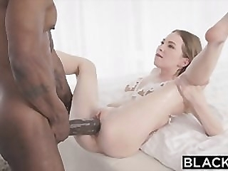 BLACKED Petite blonde with the biggest bbc in the world big dick blowjob riding video