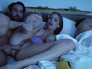 Britney Amber sucking her stepsons young rod blowjob brunette fetish video